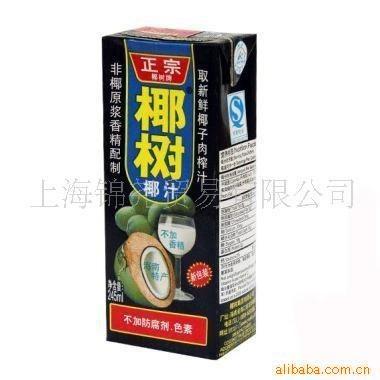 v天然1L椰树天然椰子汁商业(纸盒灯光设计饮料橱窗图片