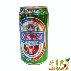 青岛啤酒冰醇易拉罐青岛优质听装啤酒330mi