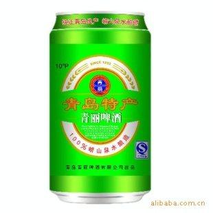 诚招青岛特产啤酒330mi易拉罐区域代理