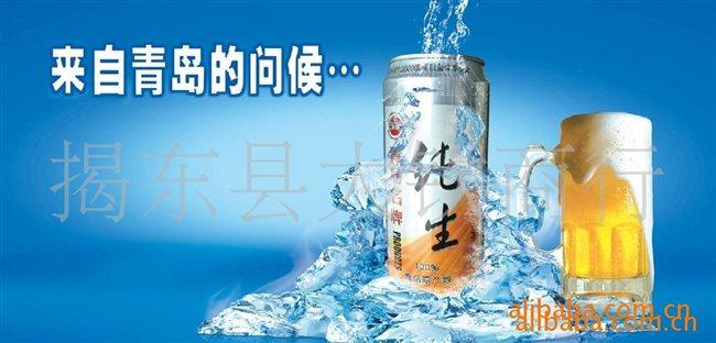 青岛名牌纯生啤酒易拉罐