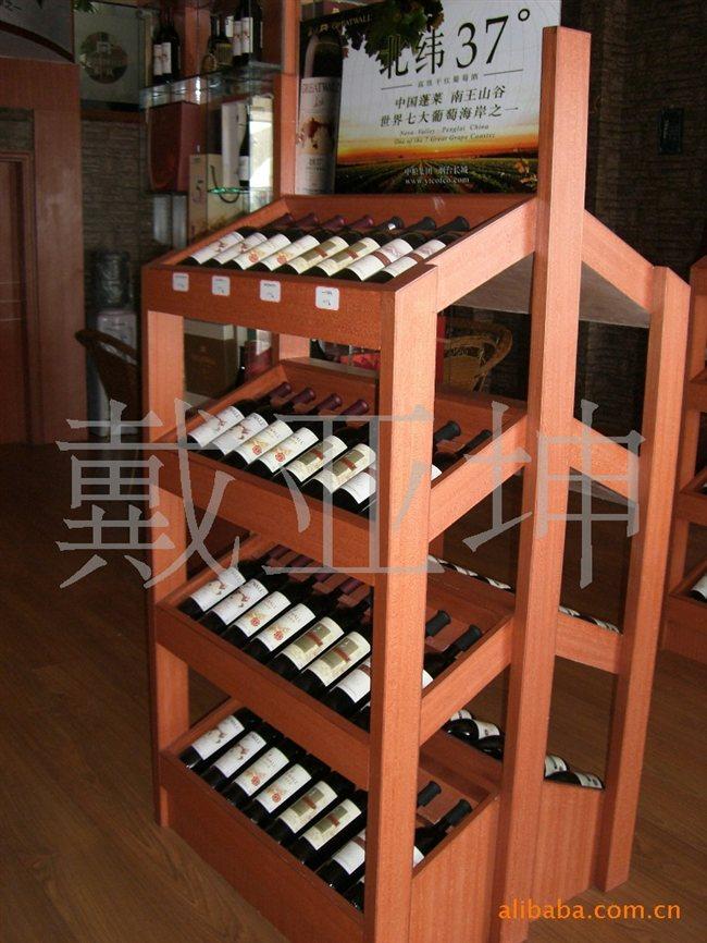 红酒木桶架子图片