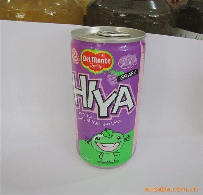 批发韩国食品--乐天饮料--乐天喜呀葡萄汁