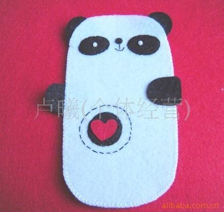 手工diy 不织布材料包 不织布手机袋爱心熊