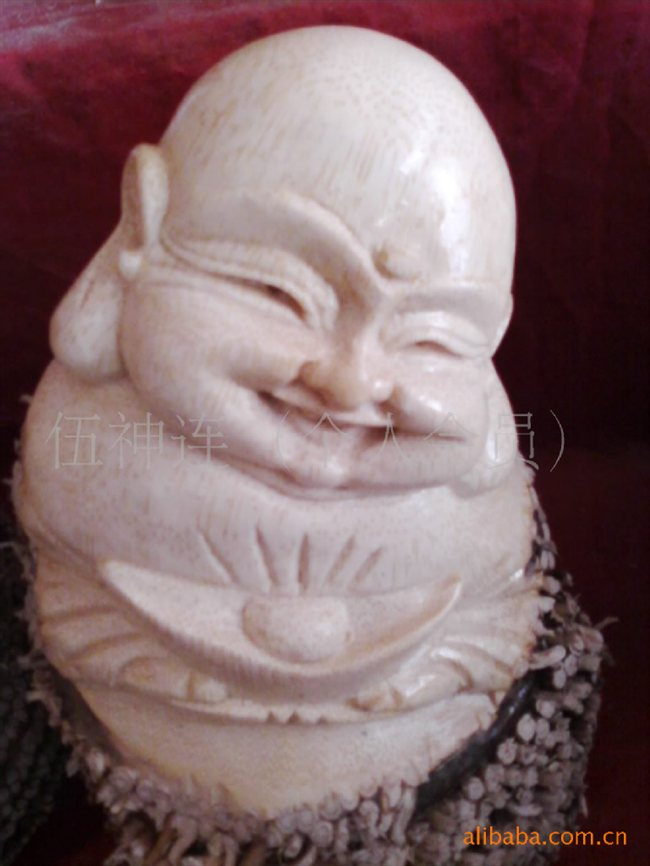 接订购四川特色手工艺品 竹根雕佛像