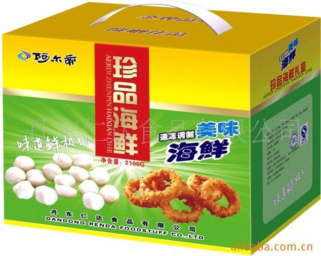 供应礼包 速冻海鲜 丸子 面包屑海鲜 礼包 丹东仁达