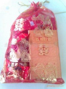 泰兴市/11.5*16.5cm喜糖袋、可以装一包香烟8粒糖