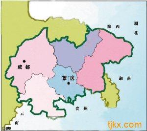 重庆市的万州,涪陵,渝中,大渡口,江北等31个区县,四川省的成都,泸州图片