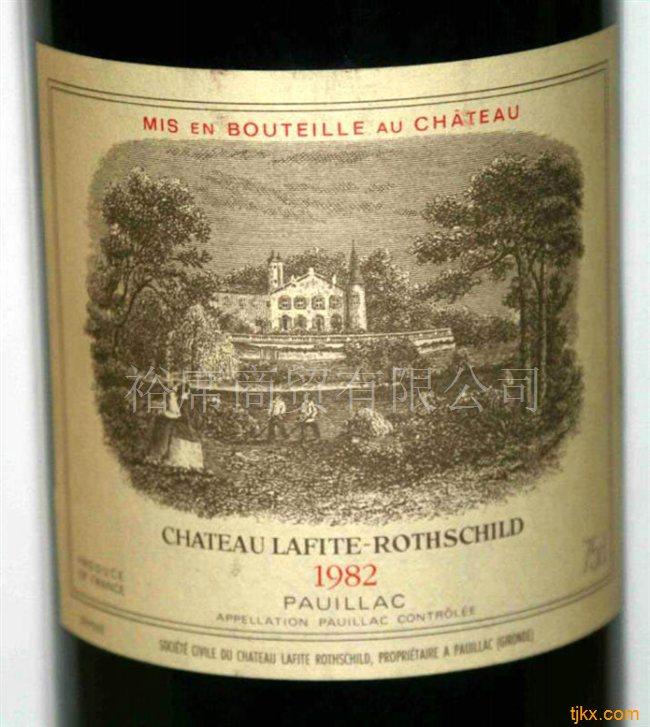 法国拉菲红酒价格1982年正牌拉菲葡萄酒小拉菲价格