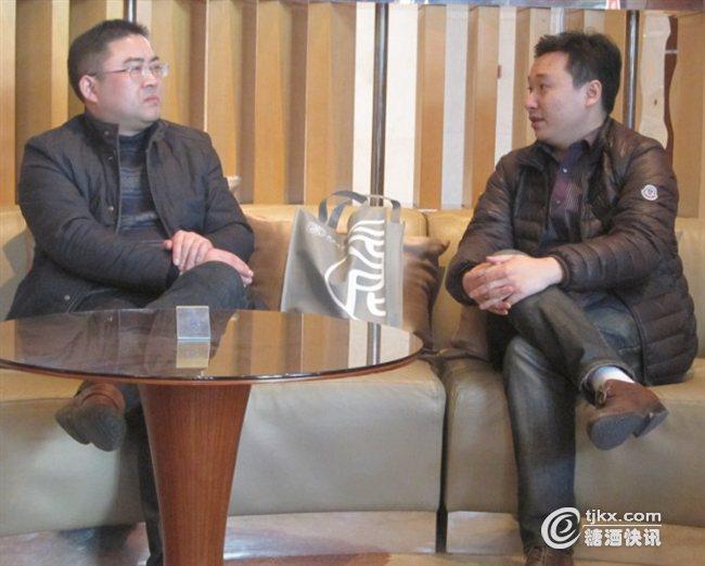 湖北稻花香酒业股份有限公司常务副总经理杨海波和郭晓霜