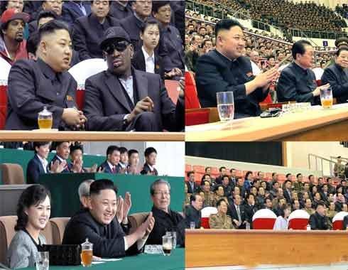 朝鲜最高领导人金正恩每次观看比赛,都会喝同一款饮料。