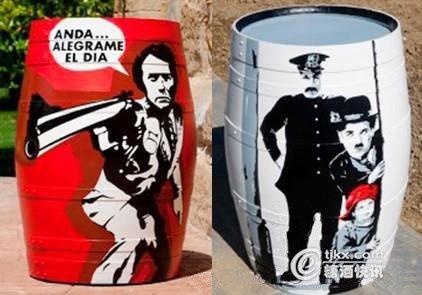 创新营销:里奥哈某酒庄将旧橡木桶打造成艺术品